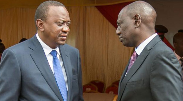 Image result for images of Ruto and Uhuru
