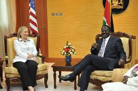 Hillary Clinton with Raila when she visited the country as the Secretary of States