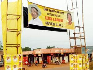 Museveni's Referendum banners